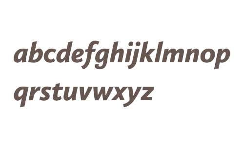 Calluna Sans W03 Black Italic