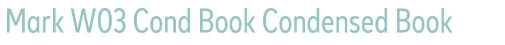 Mark W03 Cond Book