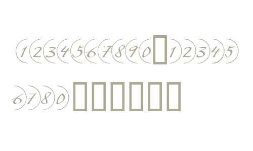 Bullet Numbers W90 Script Pos