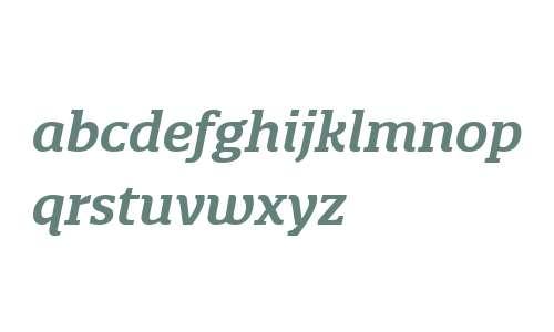 Quatro Slab W03 SemiBold Italic