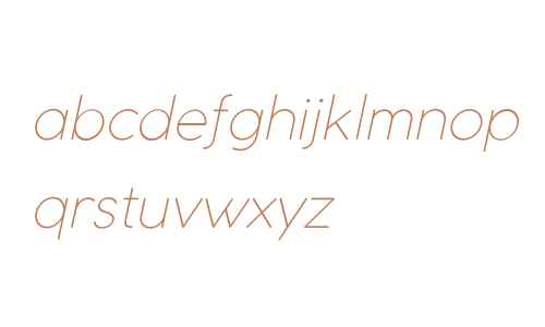 Coco Gothic UltraLight Italic