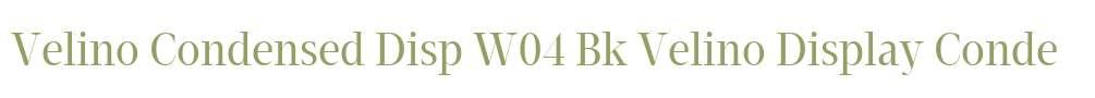Velino Condensed Disp W04 Bk