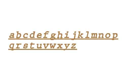 JMH Typewriter mono Under Italic