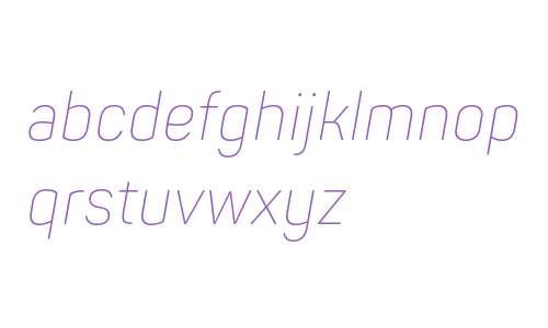Panton Narrow ExtraLight Italic