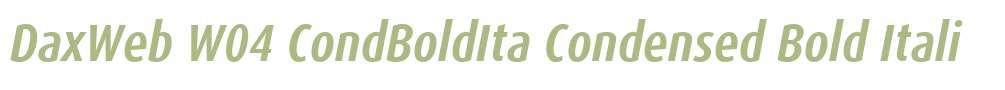 DaxWeb W04 CondBoldIta