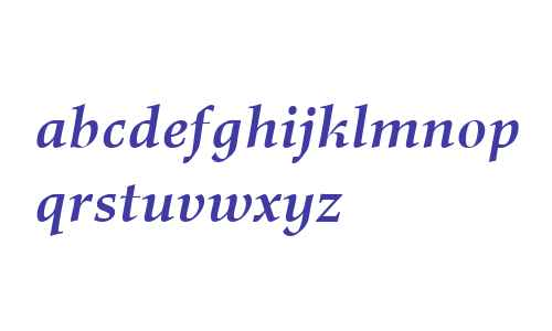 Richler PE W06 Bold Italic