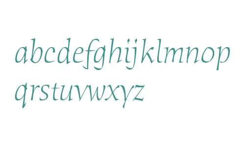 Humana Serif ITC Light Italic