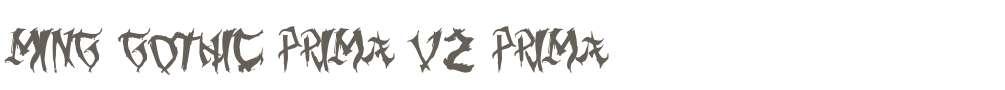 Ming Gothic Prima V2