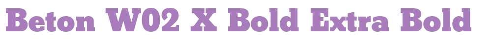 Beton W02 X Bold