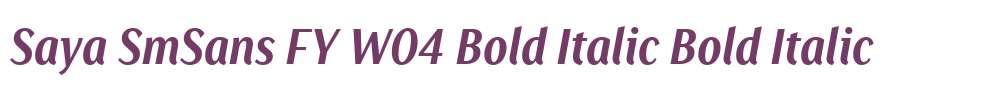 Saya SmSans FY W04 Bold Italic