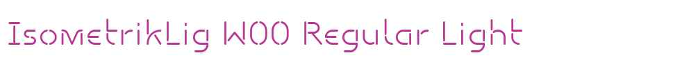 IsometrikLig W00 Regular