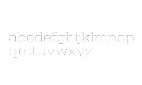 United Serif SemiExt Thin