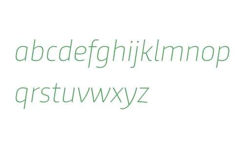 Trasandina W03 Thin Italic