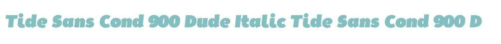 Tide Sans Cond 900 Dude Italic