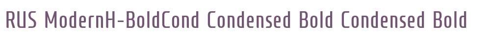 RUS ModernH-BoldCond Condensed Bold