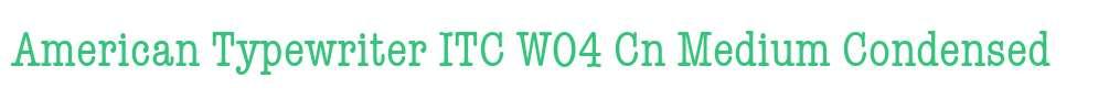American Typewriter ITC W04 Cn