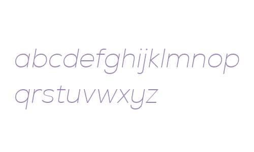 Nexa W01 Thin Italic