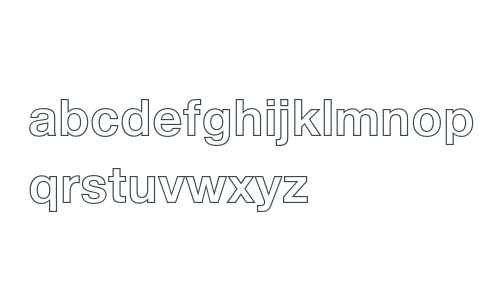Helvetica 75 Bold Outline