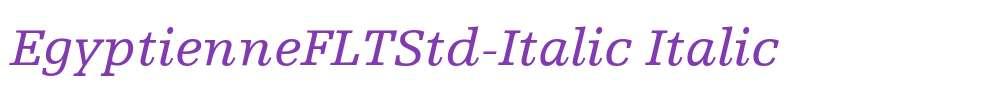 EgyptienneFLTStd-Italic