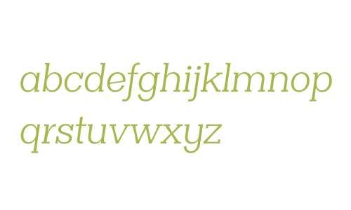 Clasica Slab W00 Book Italic