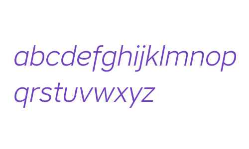 CoreSansA35Light-Italic