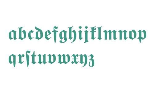 Wittenberger Fraktur MT Bold Dfr