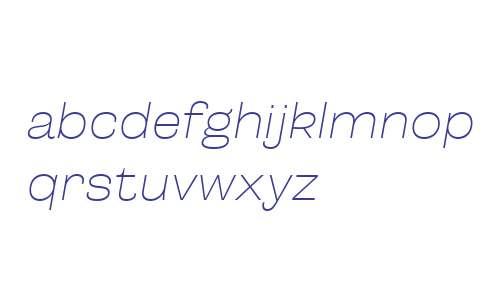 Campaign W00 Thin Italic