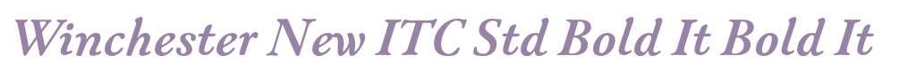 Winchester New ITC Std Bold It