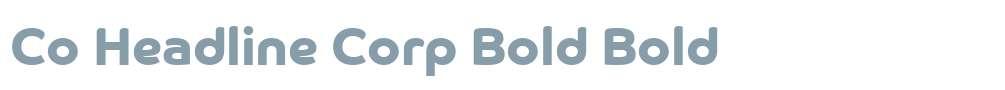 Co Headline Corp Bold