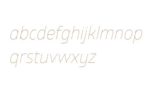 Glober W01 Thin Italic