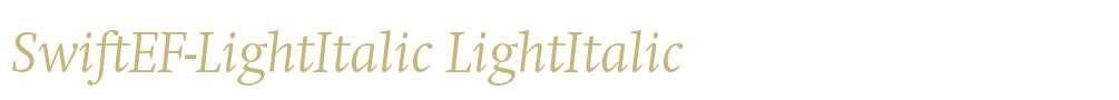 SwiftEF-LightItalic