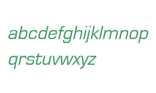 Eurostile W07 Oblique