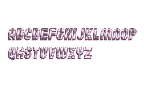 Chicago Bright Neon 3D Italic