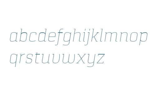 Pancetta Serif Pro Thin Italic