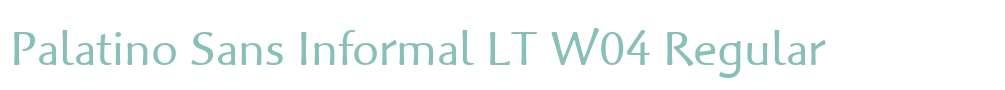 Palatino Sans Informal LT W04