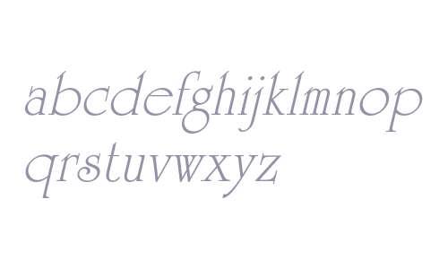 University Roman Std Italic