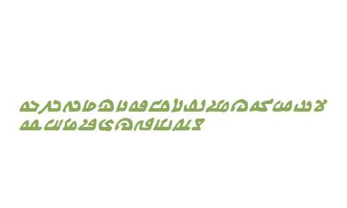 We Come In Peace BB Bold Italic