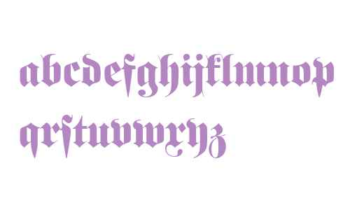 Fette Fraktur W01 Initials