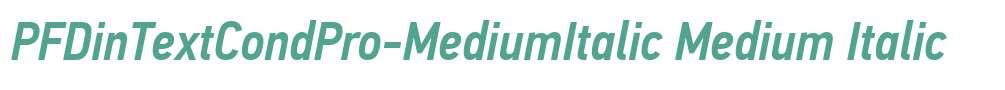 PFDinTextCondPro-MediumItalic
