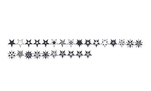 HWT Star Ornaments W95 Regular