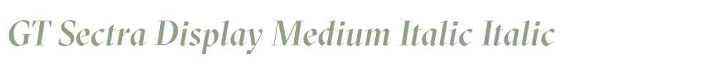 GT Sectra Display Medium Italic