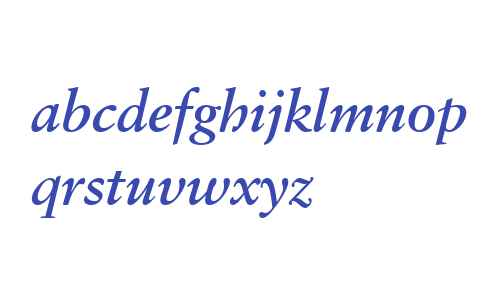 Classical Garamond W03 Bd It