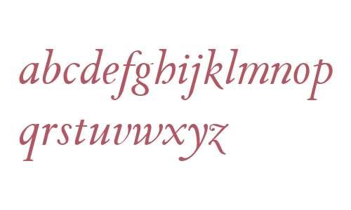 TWT Pavane W03 Regular Italic