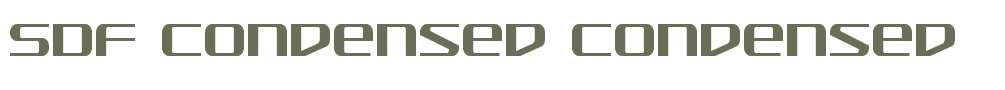 SDF Condensed