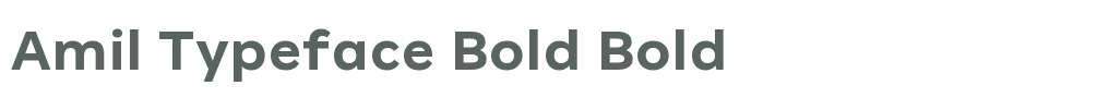Amil Typeface Bold