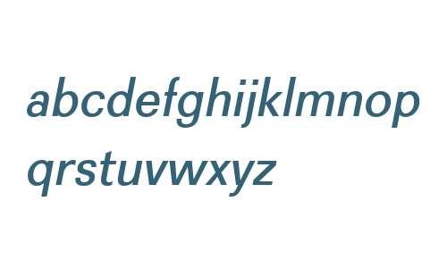 Recta W01 Medium Italic