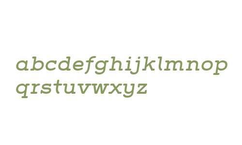 Grover Slab W01 Italic