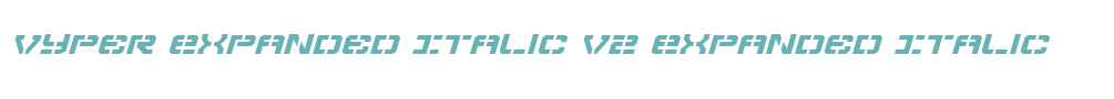 Vyper Expanded Italic V2