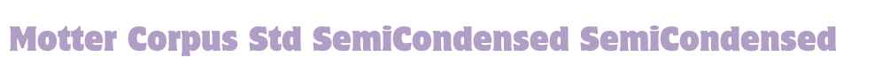 Motter Corpus Std SemiCondensed
