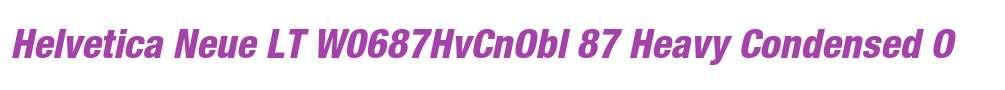 Helvetica Neue LT W0687HvCnObl